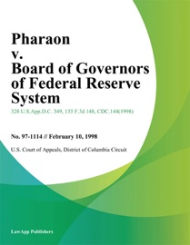 PHARAON V. BOARD OF GOVERNORS OF FEDERAL RESERVE SYSTEM