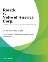 Rosack V Volvo Of America Corp