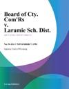Board Of Cty Comrs V Laramie Sch Dist