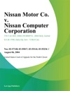 Nissan Motor Co V Nissan Computer Corporation