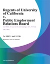 Regents Of University Of California V Public Employment Relations Board