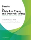Borden V Eddie Lee Young And Deborah Young