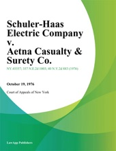 Schuler-Haas Electric Company v. Aetna Casualty & Surety Co.