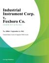 Industrial Instrument Corp V Foxboro Co