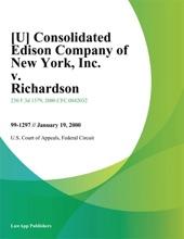 Consolidated Edison Company Of New York, Inc. V. Richardson