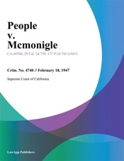 Download and Read Online People V. Mcmonigle