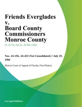 Friends Everglades V. Board County Commissioners Monroe County