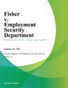 Fisher V Employment Security Department