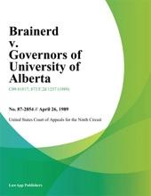 Brainerd V. Governors Of University Of Alberta