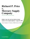 Richard P Price V Mercury Supply Company