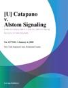 U Catapano V Alstom Signaling