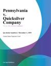 Pennsylvania V Quicksilver Company