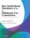 Bert Smith Road Machinery Co V Oklahoma Tax Commission