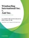 Windsurfing International Inc V Amf Inc