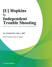 Hopkins V. Independent Trouble Shooting