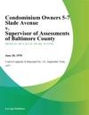 Condominium Owners 5-7 Slade Avenue V Supervisor Of Assessments Of Baltimore County