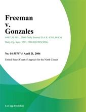 Freeman V. Gonzales