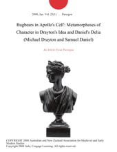 Bugbears in Apollo's Cell': Metamorphoses of Character in Drayton's Idea and Daniel's Delia (Michael Drayton and Samuel Daniel)