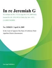 In Re Jeremiah G.