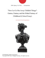 essay about childhood games