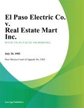 El Paso Electric Co. V. Real Estate Mart Inc.
