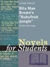 A Study Guide For Rita Mae Browns Rubyfruit Jungle