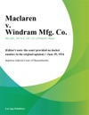 Maclaren V Windram Mfg Co