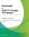 Mcdonald V John P Scripps Newspaper