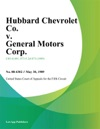 Hubbard Chevrolet Co V General Motors Corp