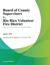 Board Of County Supervisors V Rio Rico Volunteer Fire District