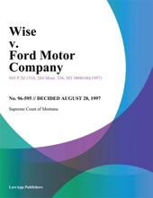 Wise V. Ford Motor Company