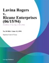 Lavina Rogers V Ricane Enterprises 061594