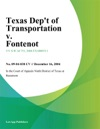 Texas Dept Of Transportation V Fontenot
