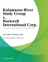 Kalamazoo River Study Group V Rockwell International Corp