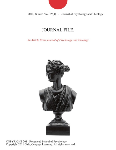 JOURNAL FILE  by Journal of Psychology and Theology on Apple Books