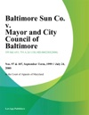 Baltimore Sun Co V Mayor And City Council Of Baltimore