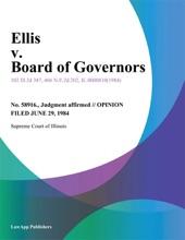 Ellis V. Board Of Governors