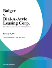 Bolger V. Dial-A-Style Leasing Corp.