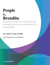 People V. Brendlin