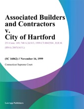 Associated Builders and Contractors v. City of Hartford