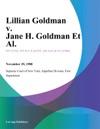Lillian Goldman V Jane H Goldman Et Al