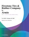 Firestone Tire  Rubber Company V Armin