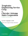 Tropicaire Engineering Service Corp V Chrysler Airtemp Sales Corporation