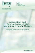Acquisition and Restructuring of Kia Motors by Hyundai Motors