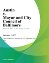 Austin V Mayor And City Council Of Baltimore