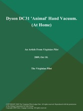 Dyson DC31 'Animal' Hand Vacuum (At Home)