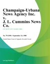 Champaign-Urbana News Agency Inc V J L Cummins News Co