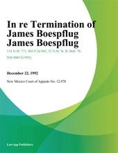 In Re Termination Of James Boespflug James Boespflug