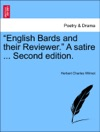 English Bards And Their Reviewer A Satire  Second Edition