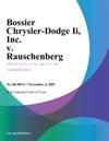 Bossier Chrysler-Dodge Ii Inc V Rauschenberg
